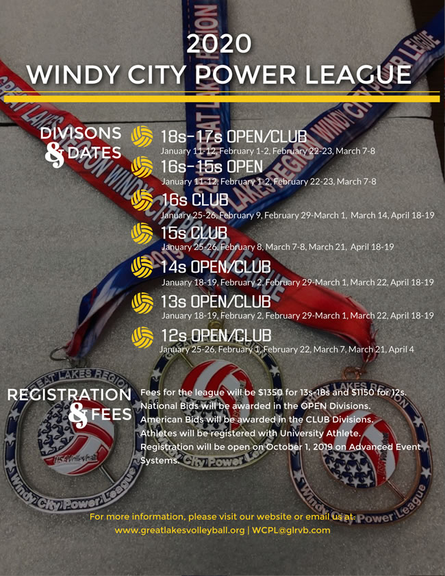 2020 Windy City Power League Flyer